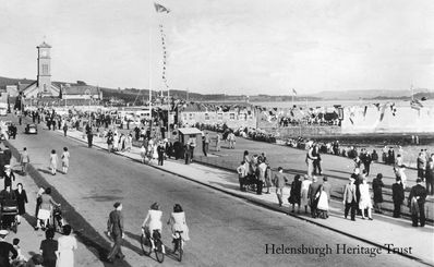 Busy seafront
