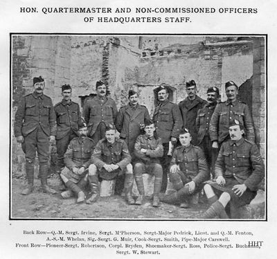 9th Argylls NCOs
