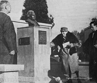 Sister unveils bust