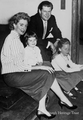 Deborah Kerr and family