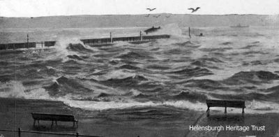Pier awash